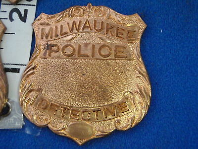 Milwaukee   BADGE BLANK BRASS OBSOLETE   BLANK UNFINISHED BADGE