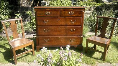 A Good George III Antique Oak Chest of Drawers