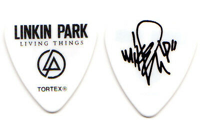 LINKIN PARK Guitar Pick : 2012 Living Things Tour - Mike Shinoda white LP custom