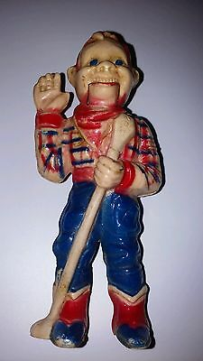 """Vintage Howdy Doody Plastic Toy Doll Figure With Mouth That Moves 4"""" Inches Tall"""