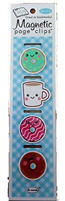 Donuts and Coffee Magnetic Page Clips Set of 4 By Re-marks
