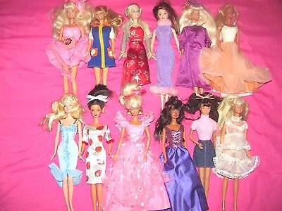 Lot Of 12 Vintage Barbie Dolls Clothes & Some Shoes~Vintage~Great Outfits