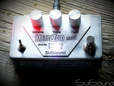 SVI SOUND - METALZOID High Gain Overdrive / Distortion Guitar Pedal - Silver