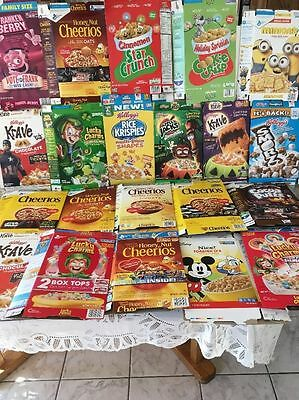 RARE Lot 21 Cereal Boxes Holiday Halloween Monster Kelloggs Lucky Charms Empty