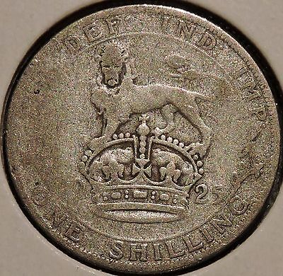 British Silver Shilling - 1925 - King George V - $1 Unlimited Shipping