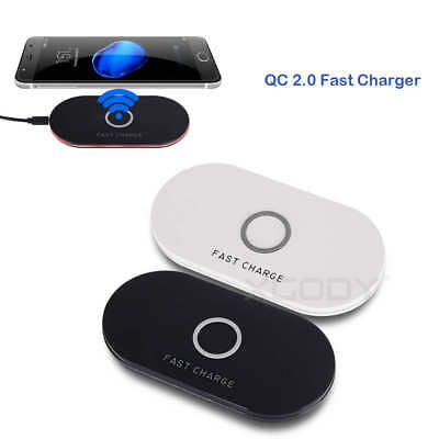 QI Wireless FAST Charger Charging Stand Pad For Samsung Galaxy S8 S7 Edge Note 5