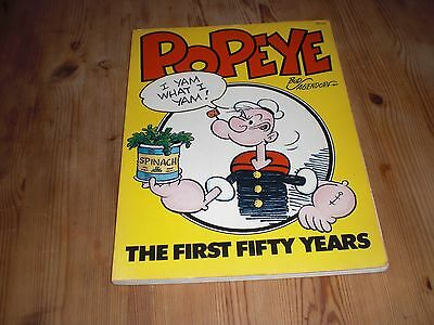 Popeye The First Fifty Years by Bud Sagendorf. 1979 large paperback Workman Pub.