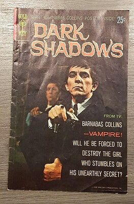 Dark Shadows 1 Comic Book Gold Key 1968 Barnabas Collins Photo Cover (NO POSTER)