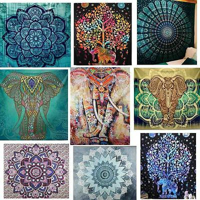 Indian Wall Hanging Tapestry Mandala Elephant Hippie Tapestries Bohemian Decor