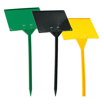 DISPLAY  STAKES (SMALL)  20 PLASTIC STAKES (FACE: 100mm x 70mm - HEIGHT: 320mm)