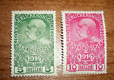 1914  AUSTRIA SEMI-POSTAL MONARCHY ISSUE Stamps MNH