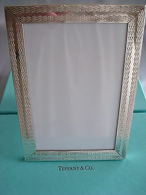 Tiffany Sterling Silver ~Mint In Box~ Picture Frame 5 X 7 ~ Beauty!