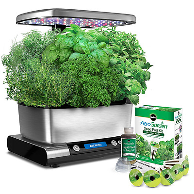 Miracle-Gro AeroGarden Harvest Elite with Gourmet Herb Seed Pod Kit, Stainless S