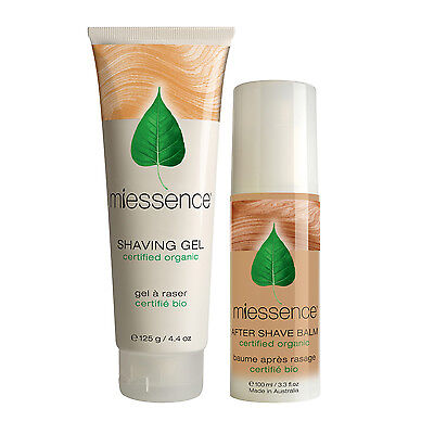 Certified Organic Shaving Gel & After Shave Balm - 100% Natural by Miessence