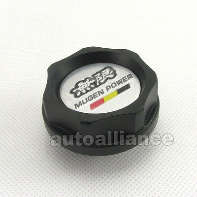 Engine Oil Filler Cap Fuel Intake Cover Mugen Power Black for Honda Acura Civic