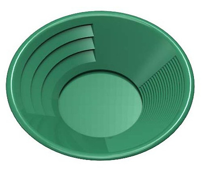 SE GP1011G8 8-Inch Green Gold Pan, Plastic Body, Dual Riffles