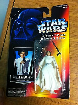 1995 Kenner Canada Star Wars Power Of The Force Princess Leia Carded Figure Moc