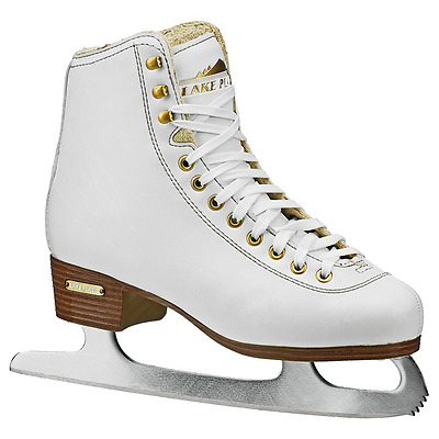 Lake Placid Alpine 900 Women's Traditional Figure Ice Skate, White, Size 8
