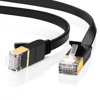 UGREEN Ultra Durable High Performance Flat Cat7 Shielded Ethernet Patch Cable 10