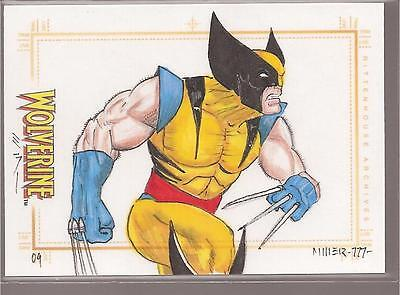 2009 Marvel X-Men Origins: Wolverine sketch by STEVEN MILLER
