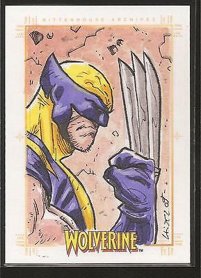 2009 Marvel X-Men Origins: Wolverine sketch by MARCELO Di CHIARA