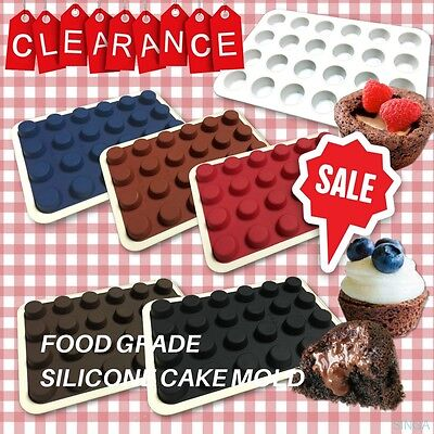 Silicone Baking Mold Mini Brownie Cake Bakeware Chocolate Candy Jelly Mould Tray
