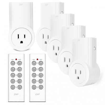 Etekcity Programmable Wireless Remote Control Power Outlet On/Off Switch Learnin