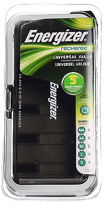 Energizer CHFCV Universal Value Charger, Charges AA/AAA/C/D/9V Rechargeable Batt