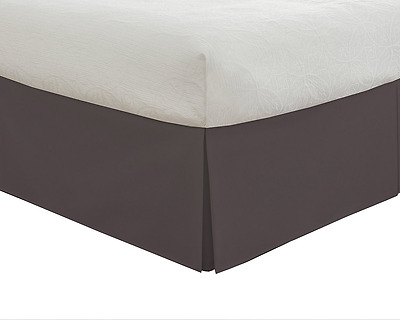 "Lux Hotel Bedding Tailored Bedskirt, Classic 14"" drop length, Pleated Styling, T"