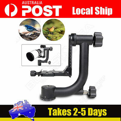 YELANGU Pro Gimbal Pan Tripod Head+Quick Release Plate For Camera Telephoto Lens