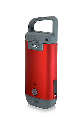Eton Clipray Crank-Powered, Clip-On Flashlight and Smartphone Charger, NCR100RSN