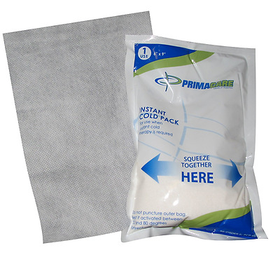 """Primacare PCP-69 Instant Cold Pack with Cover Size 6"""" x 9"""" (Pack of 24)"""