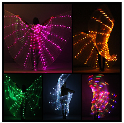 LED ISIS Wings+2 telescopic sticks, Free shipping and 3 days recive, from USA.
