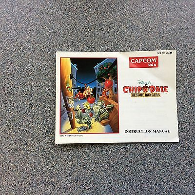 NES Chip n Dale Manual Only