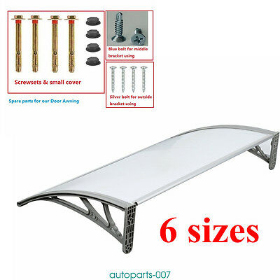 Canopy Awning Outdoor Door Window Shade Sun Rain Snow Protector Shelter Cover