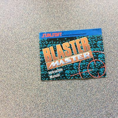 NES Blaster Master Manual Only