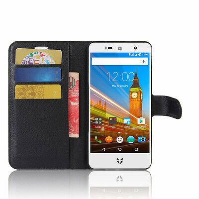 New PU Leather Flip Cover Case for wileyfox Swift 2X with Back Protective Shell