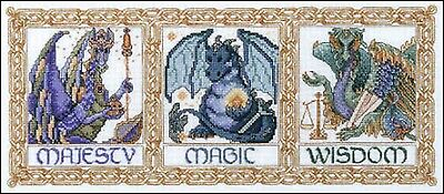 Legends of the Dragon - Cross Stitch Chart - Free Postage