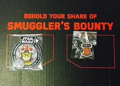 Star Wars Smugglers Bounty Luke Patch & Chewbacca Pin - 40th Anniversary
