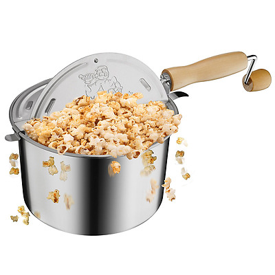 Great Northern Popcorn Original Stainless Steel Stove Top 6-1/2-Quart Popcorn Po