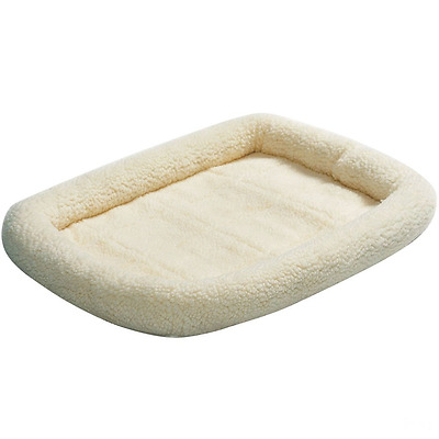 Midwest 40224 Quiet Time Bolster Pet Bed, 24-By-18-Inch, Fleece