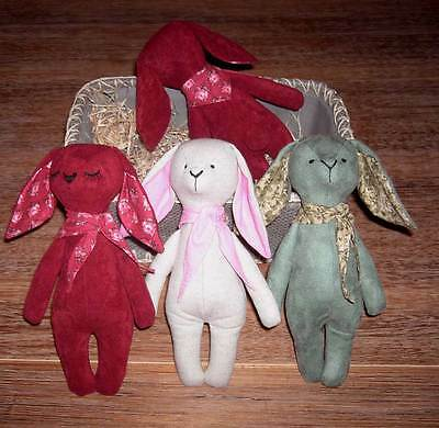 Vintage Stuffed Toy Sewing Dog and Rabbit doll - PDF E-Pattern ca.28cm