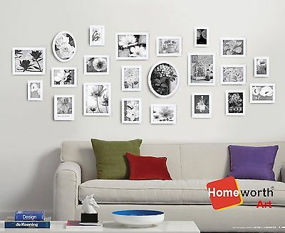 22 pcs photo picture frame wall art colletion decor valentine gift present white