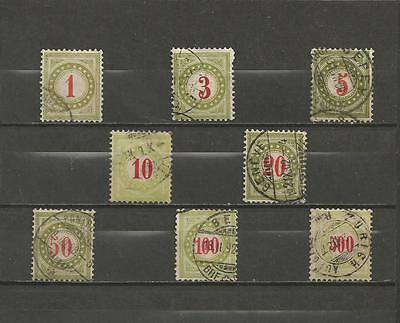 SWITZERLAND - 1883 -1908 Numeral Stamps  - POSTAGE DUE - HIGH CATALOGUED