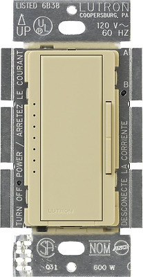 Lutron MACL-153M-IV Maestro Multi-Location CFL/LED Digital Dimmer, Ivory, 150-wa