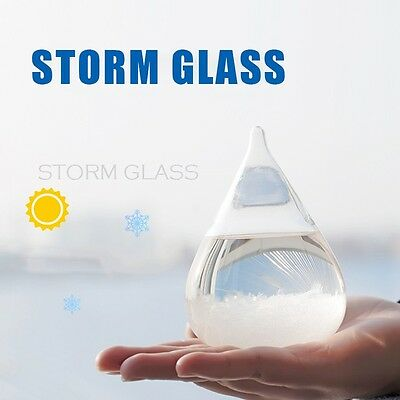 Weather Forecast Crystal Drop Water Shape Storm Glass Home Decor Christmas Gifts