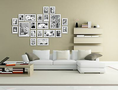 20 pcs photo picture frame wall art colletion decor valentine gift present white