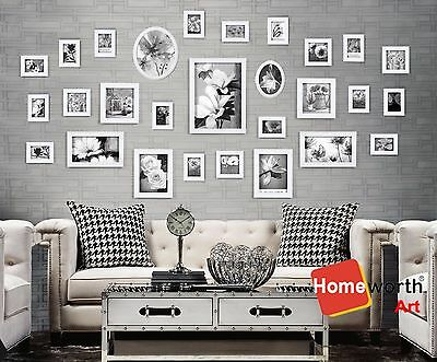 28 pcs photo picture frame wall art colletion decor valentine gift present white