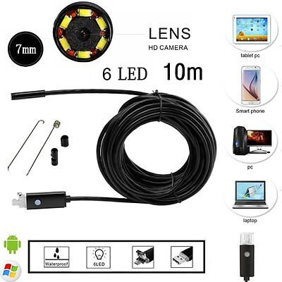 5/10m For Android Endoscope Waterproof Inspection Camera Micro USB Video Camera