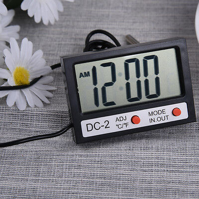 Mini Battery Digital LCD Thermometer Hygrometer With Probe For Indoor Outdoor